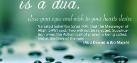 Dua When it is Raining!